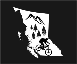 British Columbia Forest Mt. Biker Decal ***FREE SHIPPING***