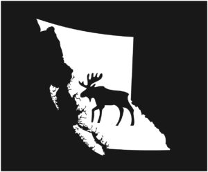 British Columbia Big Moose Decal ***FREE SHIPPING***