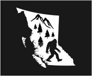 British Columbia Forest Sasquatch Decal ***FREE SHIPPING***
