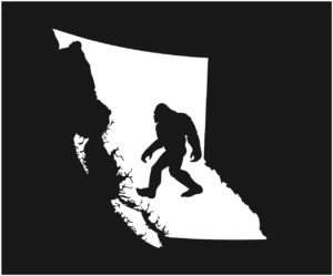 British Columbia Big Sasquatch Decal ***FREE SHIPPING***