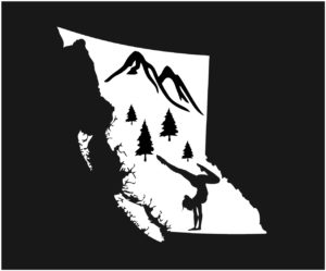 British Columbia Forest Yoga Decal ***FREE SHIPPING***