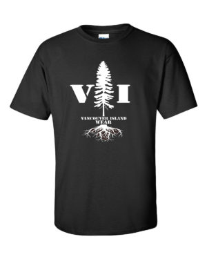 VANCOUVER ISLAND WEAR TREE DESIGN MEN'S T-SHIRT