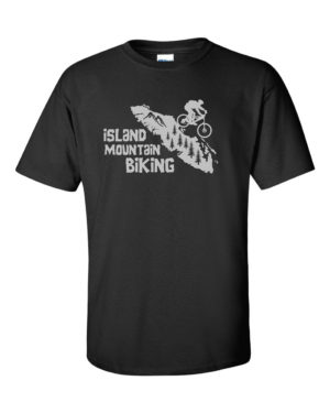 VANCOUVER ISLAND MT. BIKER MEN'S T-SHIRT (GREY PRINT)