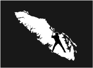 Vancouver Island Baseball Player decal ***FREE SHIPPING***