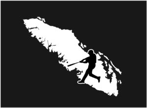 Vancouver Island Baseball Player swing decal ***FREE SHIPPING***