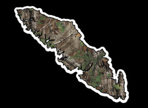 Vancouver Island Camouflage print 7.5″ ***FREE SHIPPING***
