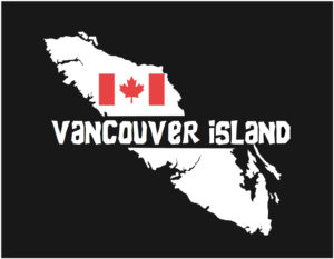 Vancouver Island Red Canadian Flag decal ***FREE SHIPPING***