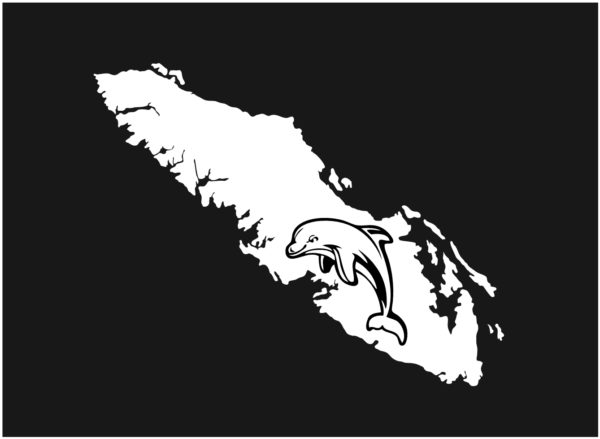 Vancouver Island decal sticker dolphin