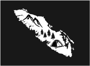 Vancouver Island Forest Camping decal ***FREE SHIPPING***