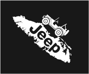 Vancouver Island Jeep decal ***FREE SHIPPING***