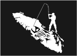 Vancouver Island Bone Fishing decal ***FREE SHIPPING***