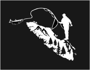 Vancouver Island Fly Fishing decal ***FREE SHIPPING***