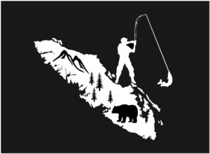 Vancouver Island Fishing Bear decal ***FREE SHIPPING***