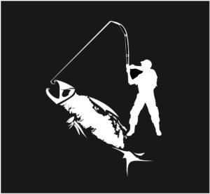 Vancouver Island Fish Fishing decal ***FREE SHIPPING***