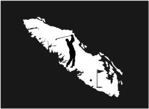 Vancouver Island Golf Player decal ***FREE SHIPPING***