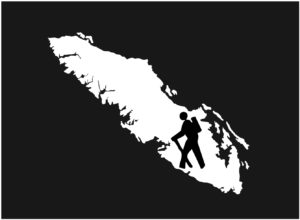 Vancouver Island Hiker emblem decal ***FREE SHIPPING***
