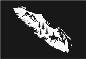 Vancouver Island Horse Riding decal WHITE 7.5″ ***FREE SHIPPING***