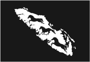 Vancouver Island Horses Running decal WHITE 7.5″ ***FREE SHIPPING***