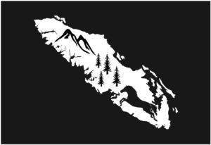 Vancouver Island Horse Tree decal WHITE 7.5″ ***FREE SHIPPING***