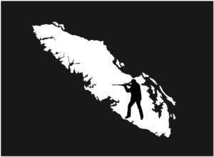 Vancouver Island Hunter Rifle decal ***FREE SHIPPING***