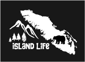 Vancouver Island life decal sticker bear