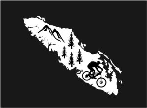Vancouver Island Forest Mt. Biker decal ***FREE SHIPPING***