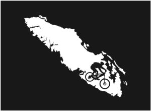 Vancouver Island Mt. Biker decal ***FREE SHIPPING***