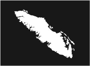Vancouver Island Solid Outline design 7.5″ ***FREE SHIPPING***