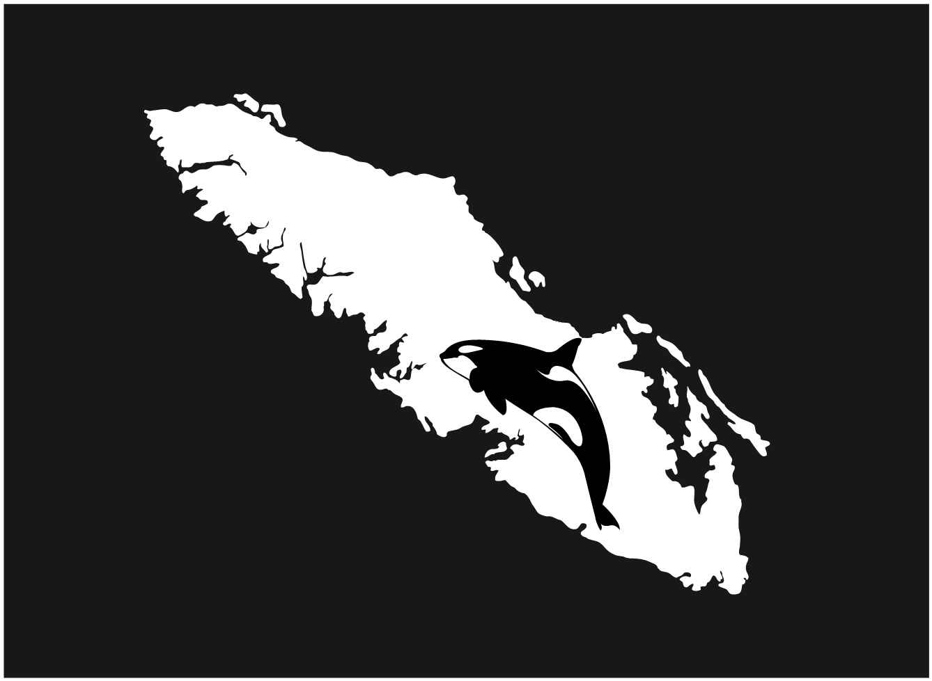 Vancouver Island decal sticker orca