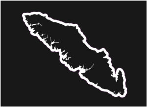 Vancouver Island Outline design decal ***FREE SHIPPING***