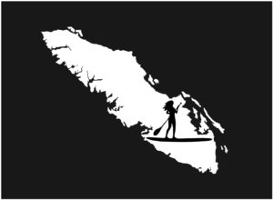Vancouver Island Paddle board girl decal ***FREE SHIPPING***