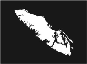 Vancouver Island Running girl decal ***FREE SHIPPING***