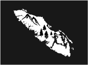 Vancouver Island Forest Running girl decal ***FREE SHIPPING***