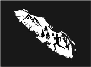 Vancouver Island Forest Running man decal ***FREE SHIPPING***