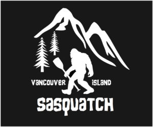Vancouver Island Sasquatch Paddle decal ***FREE SHIPPING***