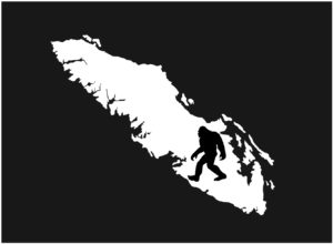 Vancouver Island Sasquatch decal ***FREE SHIPPING***