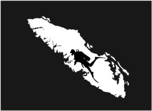 Vancouver Island Scuba Diver decal ***FREE SHIPPING***