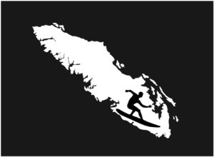 Vancouver Island Surfer decal ***FREE SHIPPING***