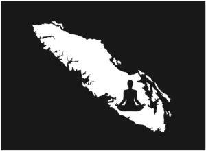 Vancouver Island Yoga Girl Meditate decal ***FREE SHIPPING***