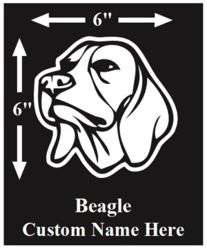 Beagle Custom Name decal ***FREE SHIPPING***