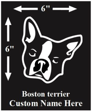 Boston Terrier Custom Name decal ***FREE SHIPPING***
