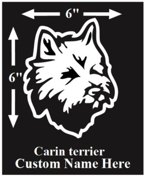 Carin Terrier Custom Name decal ***FREE SHIPPING***
