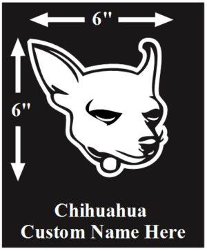 Chihuahua Custom Name decal ***FREE SHIPPING***