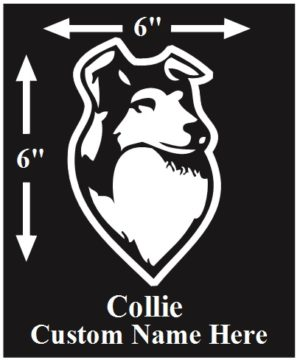 Collie Custom Name decal ***FREE SHIPPING***