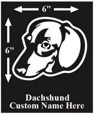 Dachshund Custom Name decal ***FREE SHIPPING***