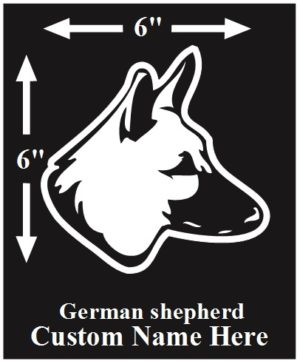 German Shepherd Custom Name decal ***FREE SHIPPING***