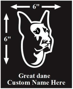 Great Dane Custom Name decal ***FREE SHIPPING***