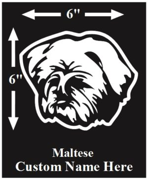 Maltese Custom Name decal ***FREE SHIPPING***