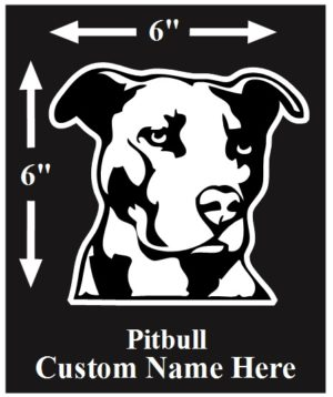 Pitbull Custom Name decal ***FREE SHIPPING***