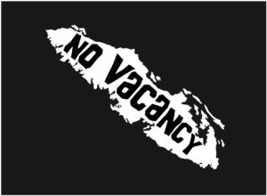 Vancouver Island No Vacancy decal ***FREE SHIPPING***